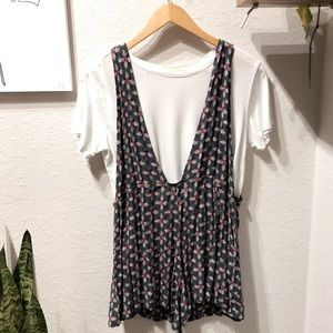 Overall romper (white tee not included)